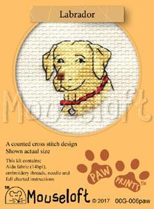 Pug Paw Prints Collection Mouseloft Mini Cross Stitch Kit